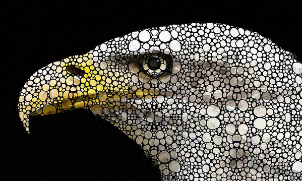 Eagle Poster featuring the painting Bald Eagle Art - Eagle Eye - Stone Rock'd Art by Sharon Cummings