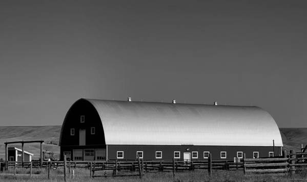 Barn Poster featuring the photograph Barn At Deer Lodge by Cathy Anderson