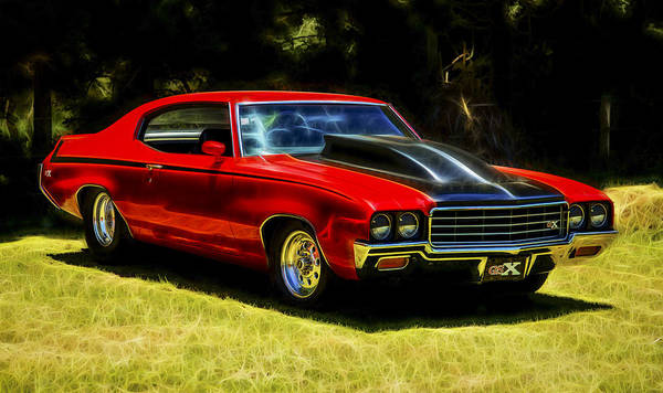 Buick Muscle Car Poster featuring the photograph Buick Gsx by motography aka Phil Clark