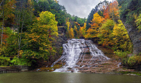 Waterfall Poster featuring the photograph Buttermilk Falls by Mark Papke