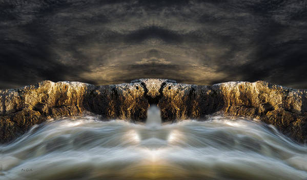 Seascape.landscape Poster featuring the photograph Convergence by Bob Orsillo