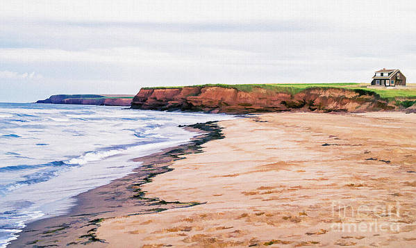 Prince Poster featuring the photograph Cousins Shore Prince Edward Island by Edward Fielding
