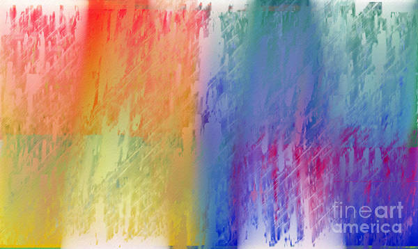 Abstract Poster featuring the digital art Deep Rich Sherbet Abstract by Andee Design