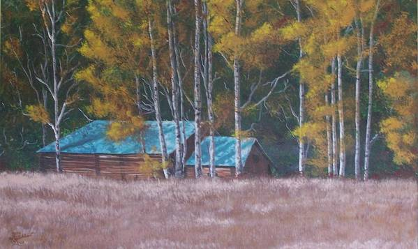 Landscape Poster featuring the painting Fall On The Ranch by Gene Ritchhart
