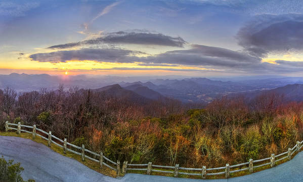 Appalachia Poster featuring the photograph From The Top Of Brasstown Bald by Debra and Dave Vanderlaan
