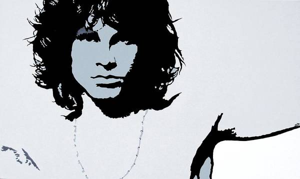The Doors Poster featuring the painting Jim Morrison by Bryan Dubreuiel