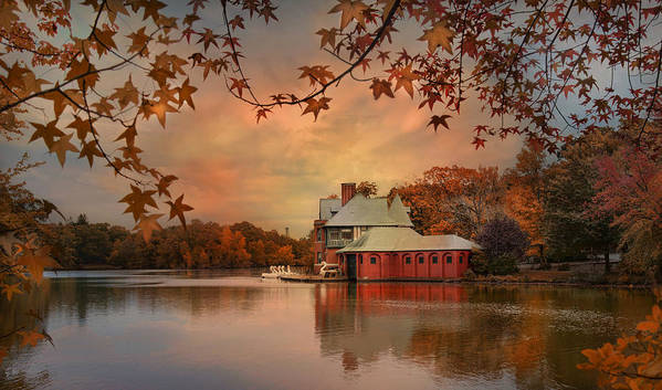 Boathouse Poster featuring the photograph Meeting At The Lodge by Robin-Lee Vieira
