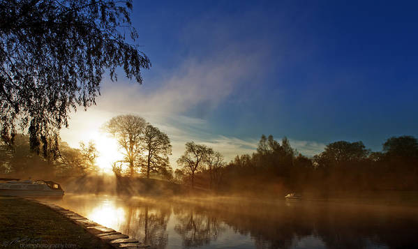 River Poster featuring the photograph Misty Morning by Beverly Cash