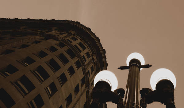 Urban Poster featuring the photograph Night Light by Steven Milner
