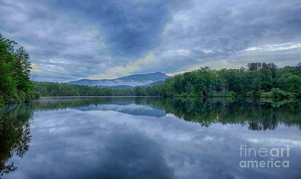 Blue Ridge Parkway Poster featuring the photograph Stormy Sunrise Over Price Lake - Blue Ridge Parkway I by Dan Carmichael