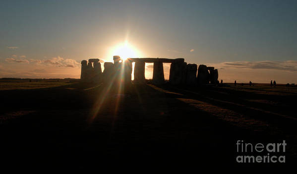 England Poster featuring the photograph Sunset At Stonehenge 3 by Deborah Smolinske