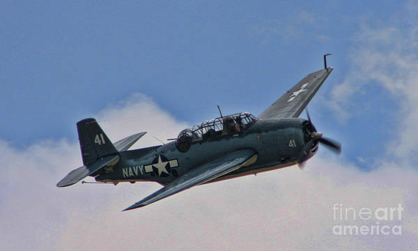 Grumman Poster featuring the photograph Tbm-3 Avenger by Tommy Anderson
