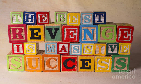 The Best Revenge Is Massive Success Poster featuring the photograph The Best Revenge Is Massive Success by Art Whitton