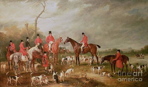 Landscape Poster featuring the painting The Birton Hunt by John E Ferneley