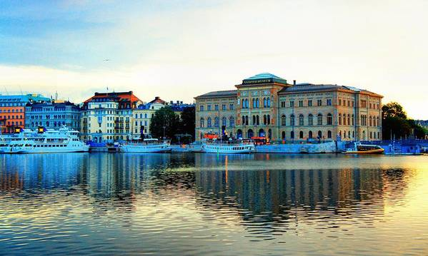 Landscape Poster featuring the photograph The Colors Of Stockholm by Jenny Hudson