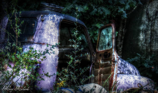 Old Truck Poster featuring the photograph Tired by Missy Richards