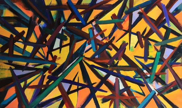 Acrylic Painting Poster featuring the painting Total Chaos by Susi LaForsch
