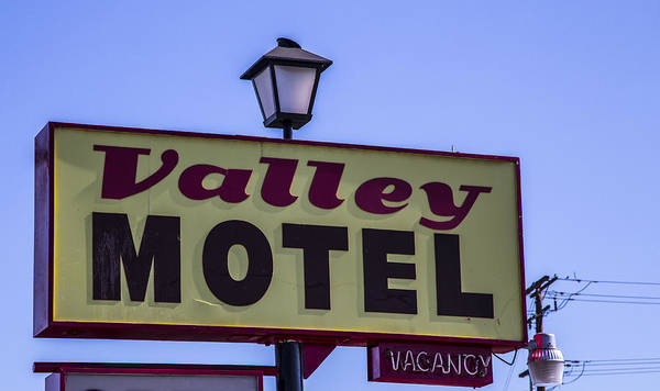 Route 66 Poster featuring the photograph Valley Motel by Angus Hooper Iii