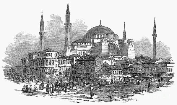 1853 Poster featuring the photograph Constantinople: St. Sophia by Granger