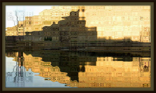 Lake Poster featuring the photograph Abstract Reflections by Lani PVG  Richmond