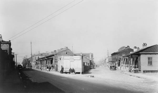 History Poster featuring the photograph African American Quarter In Savannah by Everett