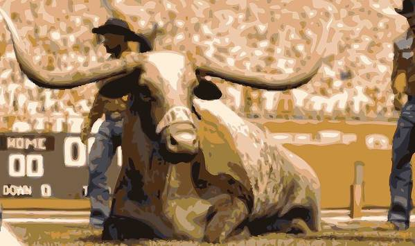Capitol Of Texas Poster featuring the photograph Bevo Color 16 by Scott Kelley