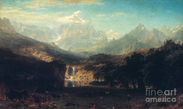 1863 Poster featuring the photograph Bierstadt: Rockies by Granger