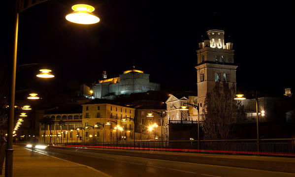 Calahorra Poster featuring the photograph Calahorra Cathedral At Night by RicardMN Photography