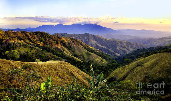 Costa Rica Poster featuring the photograph Costa Rica Rolling Hills 1 by Madeline Ellis