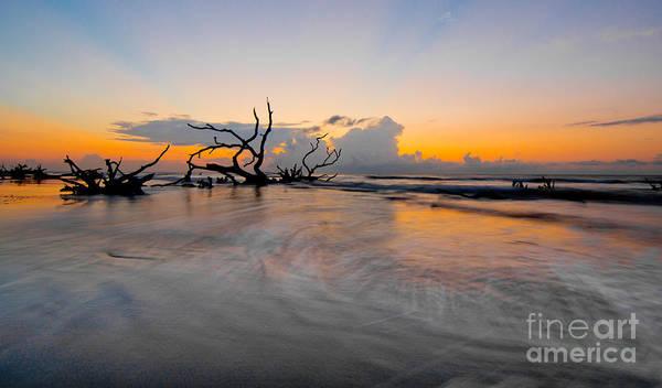 Boneyard Beach Poster featuring the photograph Edge Of Land by Matthew Trudeau
