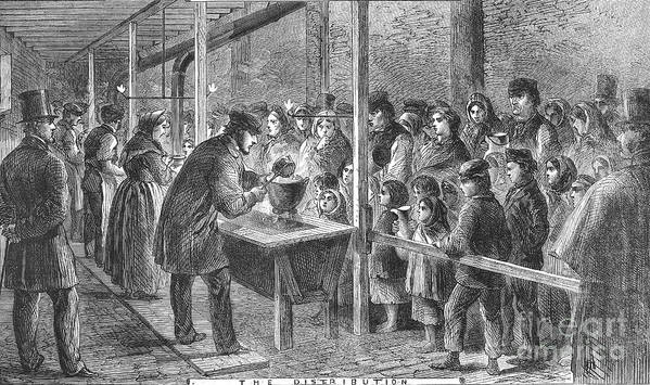1862 Poster featuring the photograph England: Soup Kitchen, 1862 by Granger