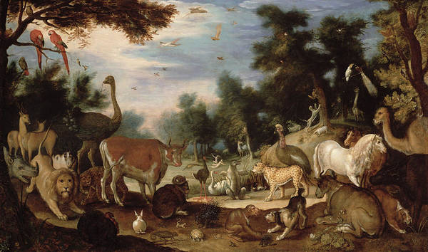 Garden Poster featuring the painting Garden Of Eden by Jacob Bouttats