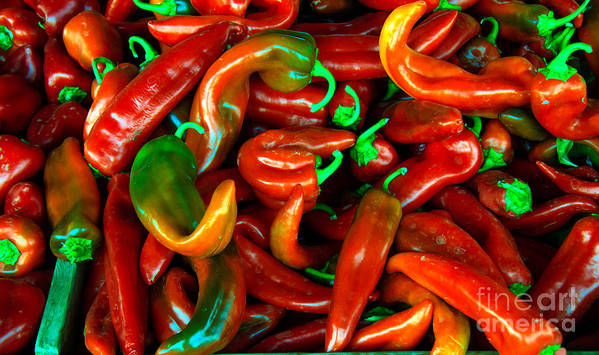 Peppers Poster featuring the photograph Hot Peppers by Robert Bales