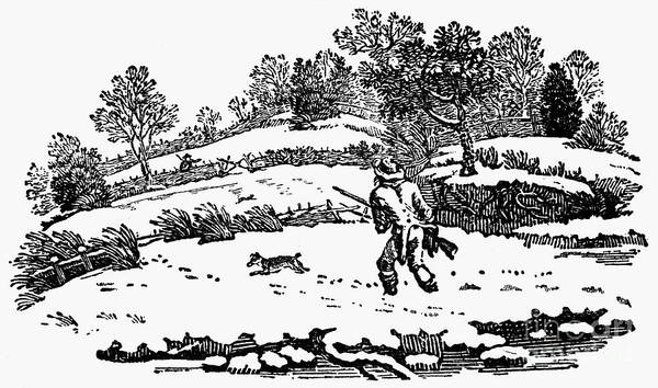 1753 Poster featuring the photograph Hunting: Winter, C1800 by Granger