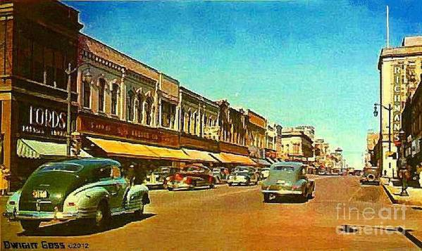 Oshkosh Wi Poster featuring the painting Kresge's Department Store In Oshkosh Wi In 1950 by Dwight Goss