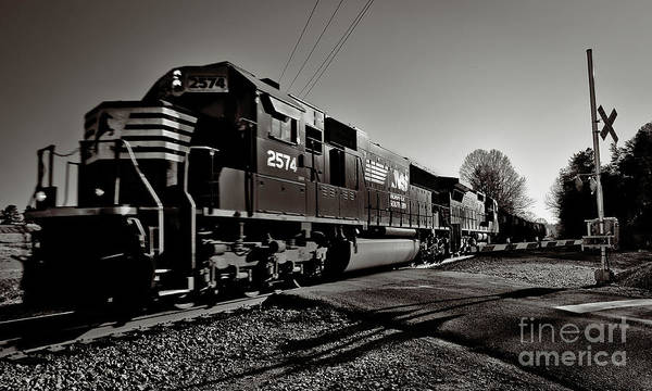 Norfolk Southern Poster featuring the photograph Rail Crossing by Mark East
