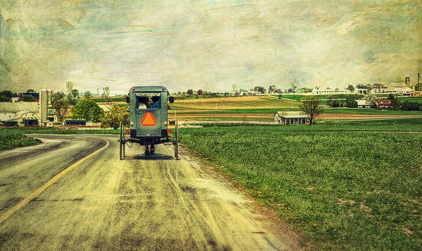 Amish Poster featuring the photograph Route 716 by Kathy Jennings