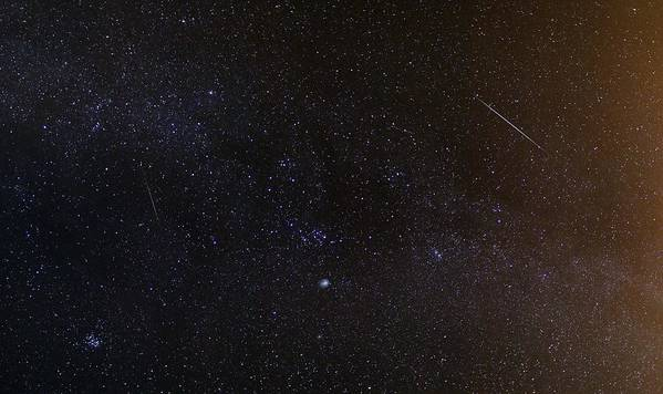Milky Way Poster featuring the photograph Shooting Stars And A Comet by Laurent Laveder