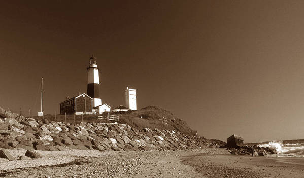 Montauk Lighthouse Poster featuring the photograph The Light At Montauk Point by Skip Willits