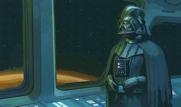 Star Wars Boba Fett Poster featuring the digital art Star Wars The Poster by Larry Jones