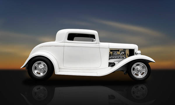 Frank J Benz Poster featuring the photograph 1932 Ford Coupe - 3 Window by Frank J Benz