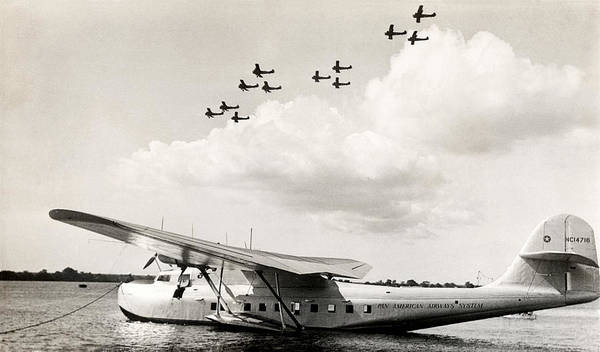 China Clipper Poster featuring the photograph 1935 China Clipper In Hawaii by Historic Image