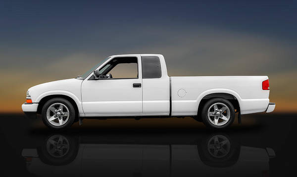 Frank J Benz Poster featuring the photograph 2003 Chevrolet S-10 Extended Cab Pickup Truck - Profile by Frank J Benz