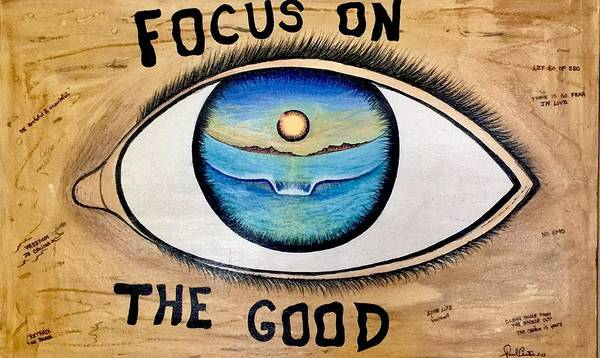 Positiveprints Poster featuring the painting Focus On The Good by Paul Carter
