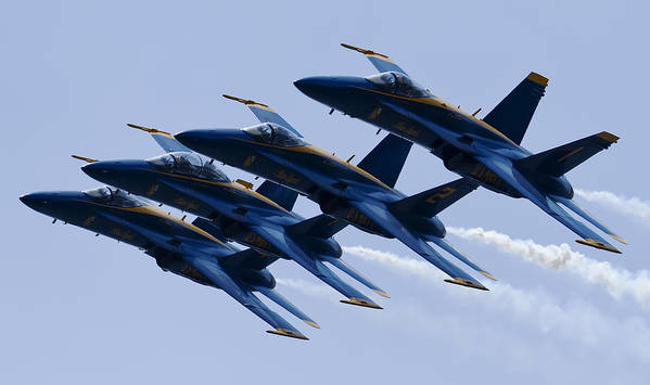 Us Navy Poster featuring the photograph Us Navy Blue Angels Poster by Dustin K Ryan