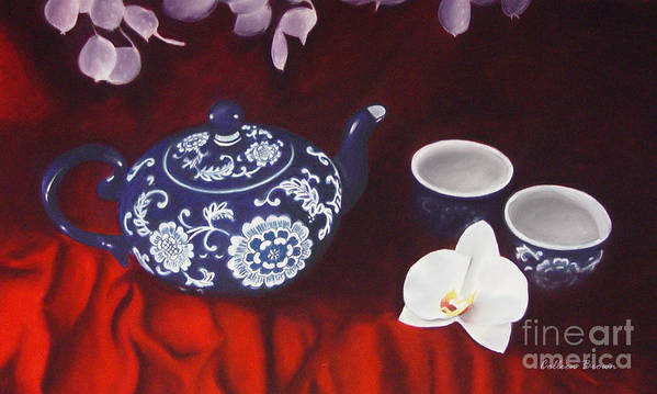 Still Life Poster featuring the painting All The Tea In China by Colleen Brown