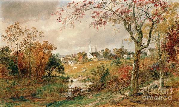 Autumn Landscape Poster featuring the painting Autumn Landscape by Jasper Francis Cropsey