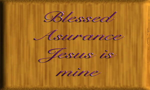 Wooden Plaque Poster featuring the digital art Blessed Asurance by Philip McDonald