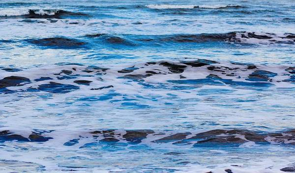 Waves Poster featuring the photograph Blue Waves by Modern Art