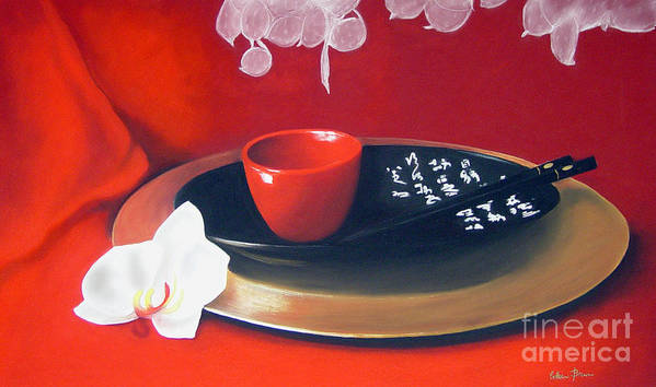 Still Life Poster featuring the painting Chopsticks by Colleen Brown